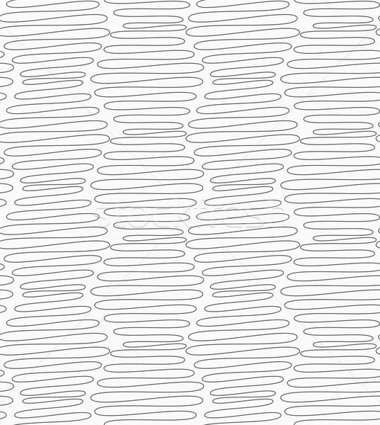 Slim gray vertical scribbled hexagons Stock photo © Zebra-Finch