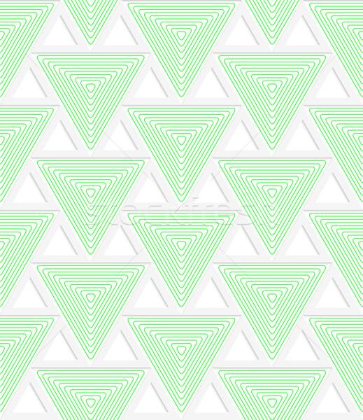 Colorato 3D verde griglia geometrica moderno Foto d'archivio © Zebra-Finch