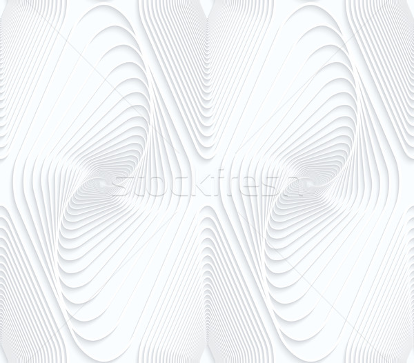 Quilling white paper swirled offset diamonds Stock photo © Zebra-Finch