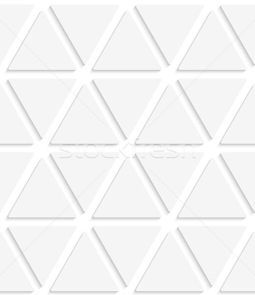 White triangular simple seamless Stock photo © Zebra-Finch