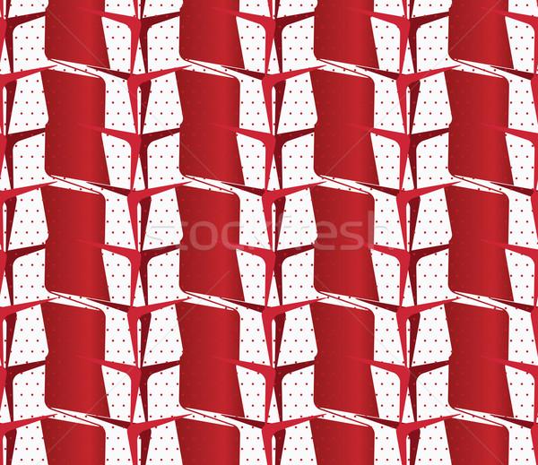 飾り 赤 白 シームレス ストックフォト © Zebra-Finch