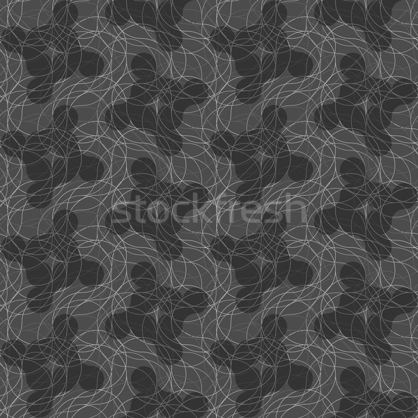 Stock photo: Dark gray ornament with translucent rounded shapes
