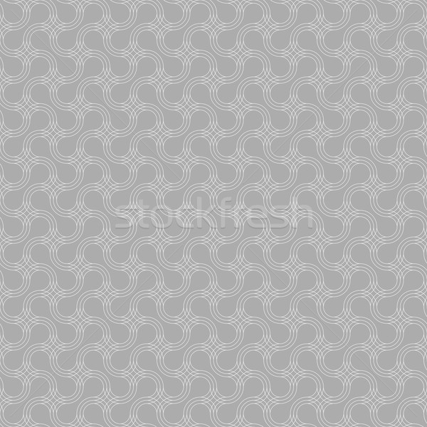 Gray ornament with slim offset rounded shapes Stock photo © Zebra-Finch