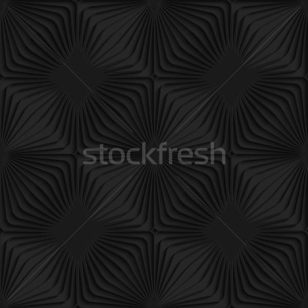 Negro 3D a rayas sin costura oscuro patrón Foto stock © Zebra-Finch