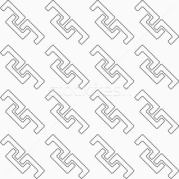 Punteggiata diagonale abstract geometrica in bianco e nero design Foto d'archivio © Zebra-Finch