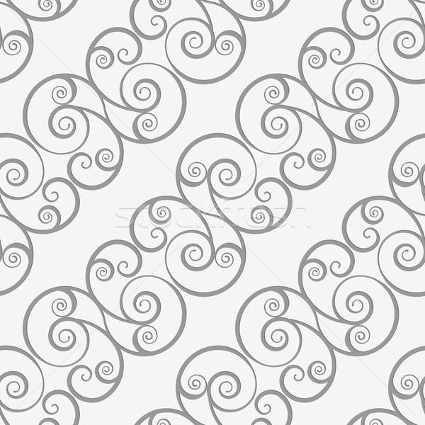Perforated diagonal spiral flourish shapes Stock photo © Zebra-Finch