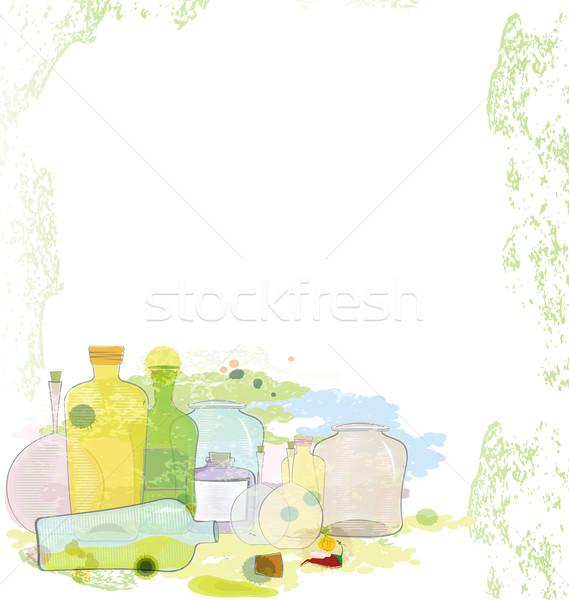 Water color jars copy space Stock photo © Zebra-Finch