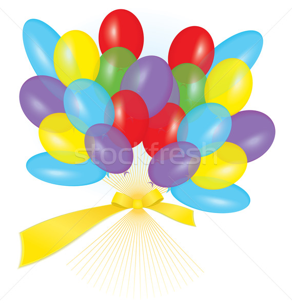 Ribbon balloon bouquet vector Stock photo © Zebra-Finch