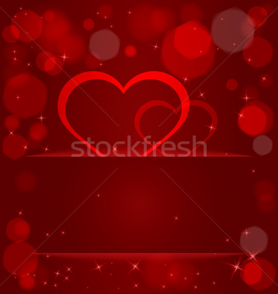 Pezsgő szívek fény zseb vektor bokeh Stock fotó © Zebra-Finch