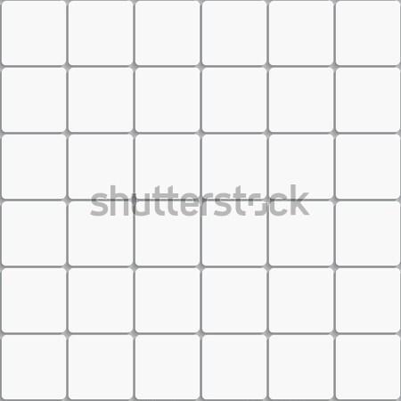 Naadloos witte vierkante keramische tegels realistisch Stockfoto © Zebra-Finch