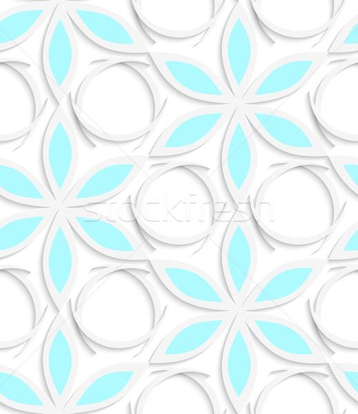Floristic white and blue seamless Stock photo © Zebra-Finch