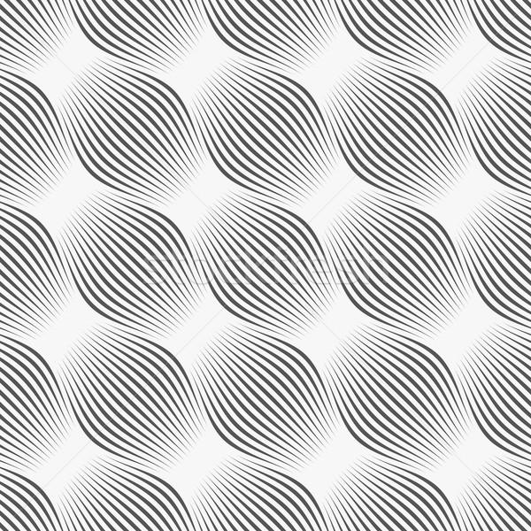 Gray ornament diagonal bulging shapes Stock photo © Zebra-Finch