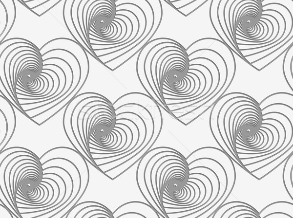 Perforated striped hearts Stock photo © Zebra-Finch