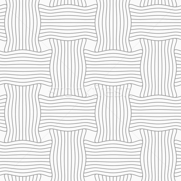 Photo stock: Mince · gris · rayé · ondulés · géométrique