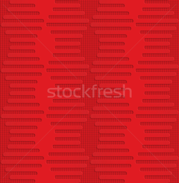 Red hexagonal waves on checkered background Stock photo © Zebra-Finch