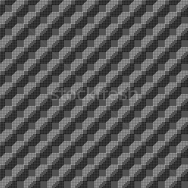 Monochrome pattern with black and gray dotted shapes forming dia Stock photo © Zebra-Finch