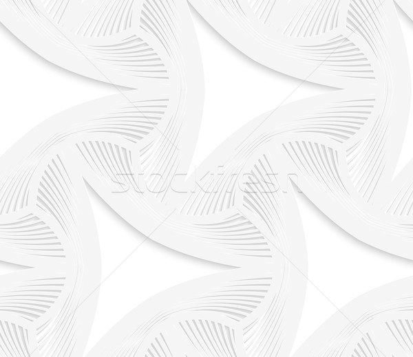 3D white puckered perforated triangles with striped offset Stock photo © Zebra-Finch