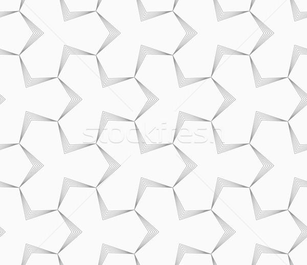 Slim gray pointy tetrapods with striped bevel Stock photo © Zebra-Finch