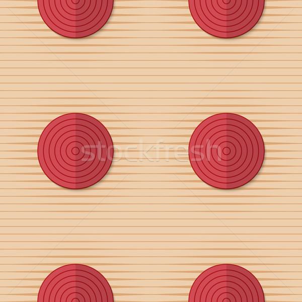 Retro fold red circles on stripes Stock photo © Zebra-Finch