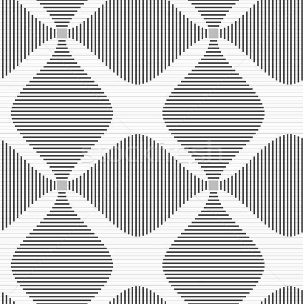 Gri çizgili dört şık geometrik modern Stok fotoğraf © Zebra-Finch