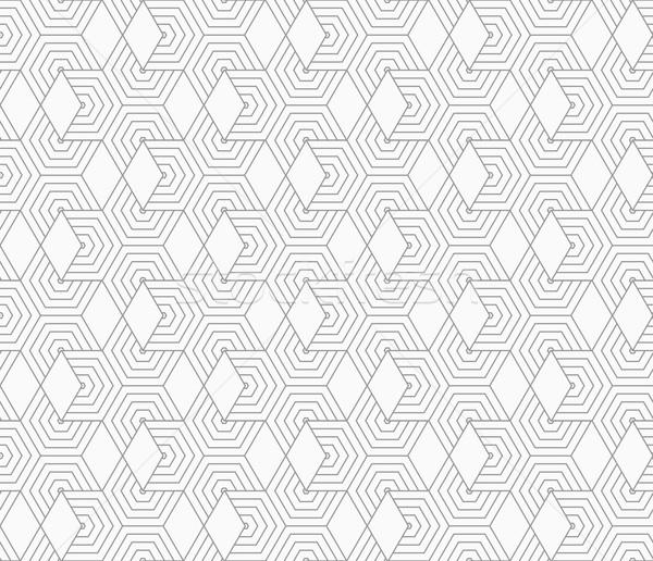 スリム グレー ダイヤモンド スタイリッシュ 幾何学的な 現代 ストックフォト © Zebra-Finch