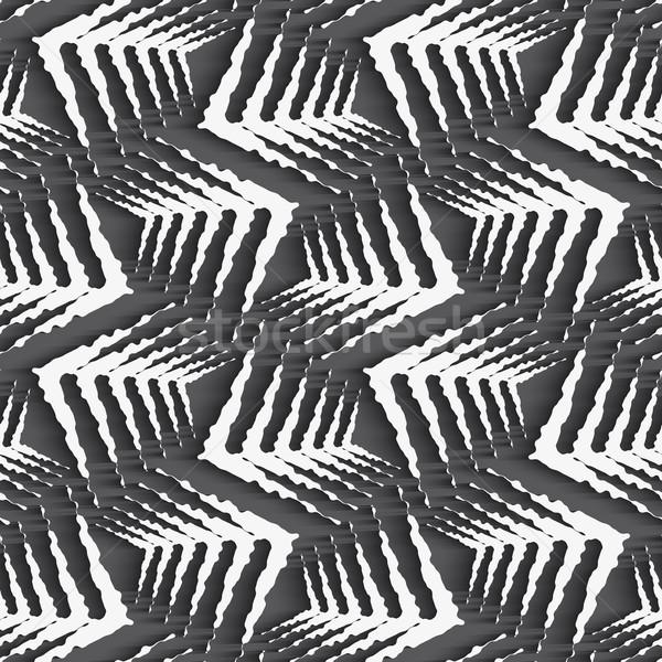 геометрический орнамент белый грубо бесшовный Сток-фото © Zebra-Finch