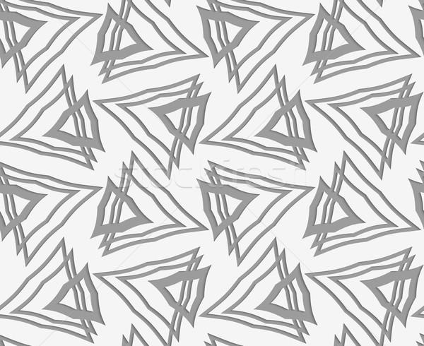Papír elegáns 3D minta ahogy hatás Stock fotó © Zebra-Finch