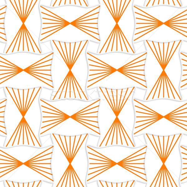 3D orange gestreift Pin geometrische Muster Stock foto © Zebra-Finch