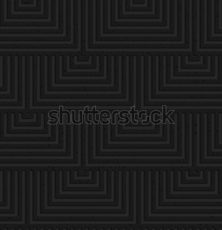 Textured black plastic overlapping squares Stock photo © Zebra-Finch