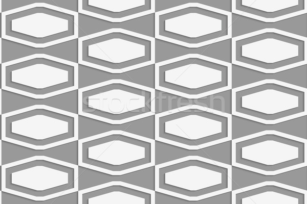 Perforated squashed hexagons in grid Stock photo © Zebra-Finch