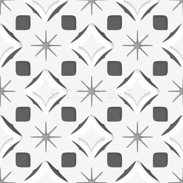 White snowflakes on dark gray seamless Stock photo © Zebra-Finch
