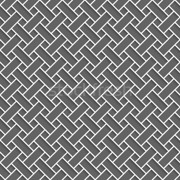 Geometrical pattern with white lattice on dark gray Stock photo © Zebra-Finch