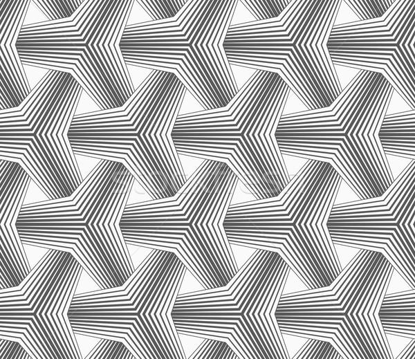 Ince gri yarım ton çizgili soyut geometrik Stok fotoğraf © Zebra-Finch