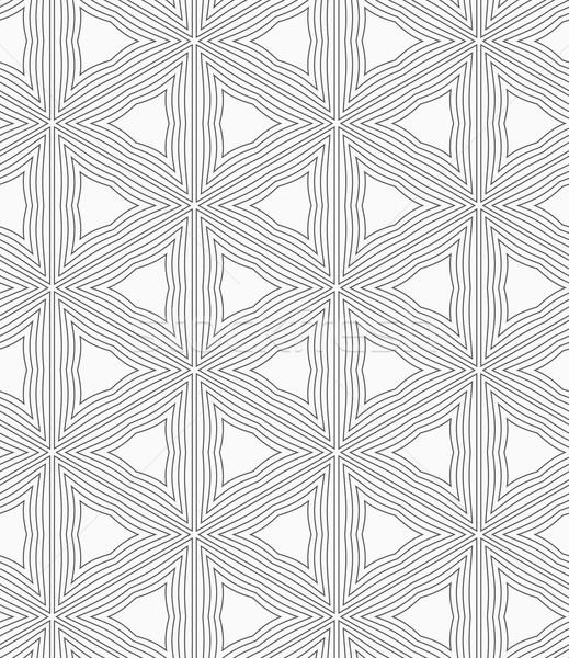 Ince gri dalgalı üçgen ızgara soyut Stok fotoğraf © Zebra-Finch
