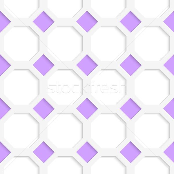 Fehér 3D színek lila gyémántok mértani Stock fotó © Zebra-Finch