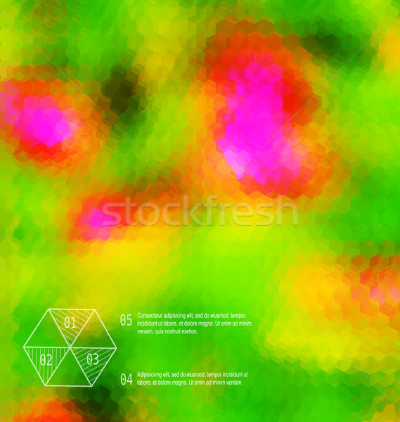 Blurred  hexagon mosaic  green  template Stock photo © Zebra-Finch