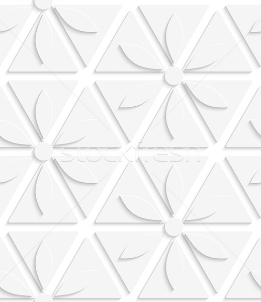White flowers and triangles seamless Stock photo © Zebra-Finch