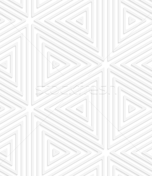 3D blanco a rayas sin costura patrón geométrico realista Foto stock © Zebra-Finch