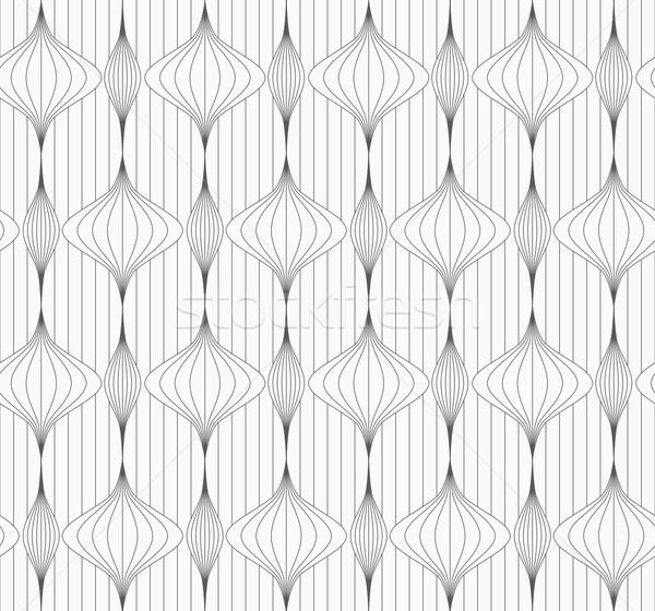 グレー 縞模様の 垂直 中国語 提灯 行 ストックフォト © Zebra-Finch