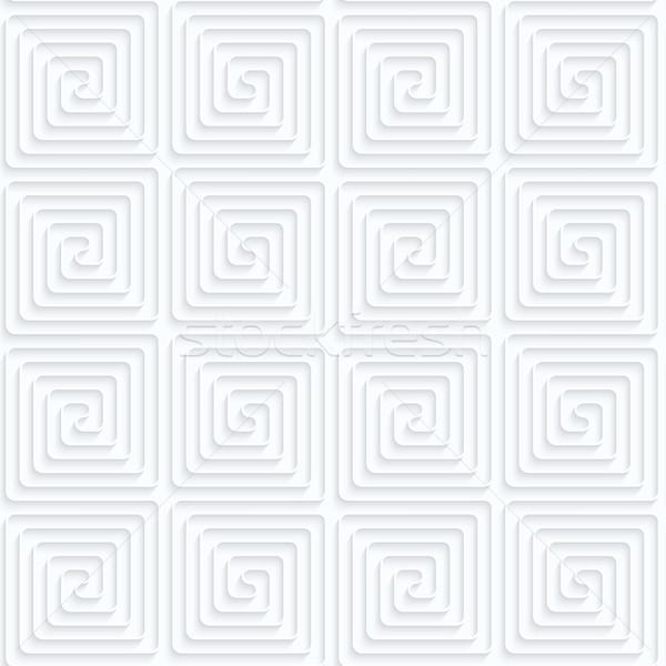 Papel cuadrados sin costura 3D blanco realista Foto stock © Zebra-Finch