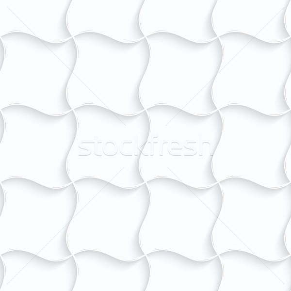 Papieru poduszkę sieci bezszwowy 3D biały Zdjęcia stock © Zebra-Finch