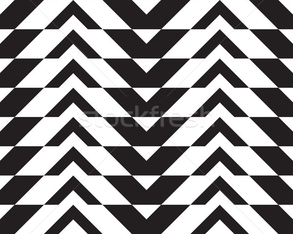 Black and white alternating thick chevron with horizontal cut Stock photo © Zebra-Finch