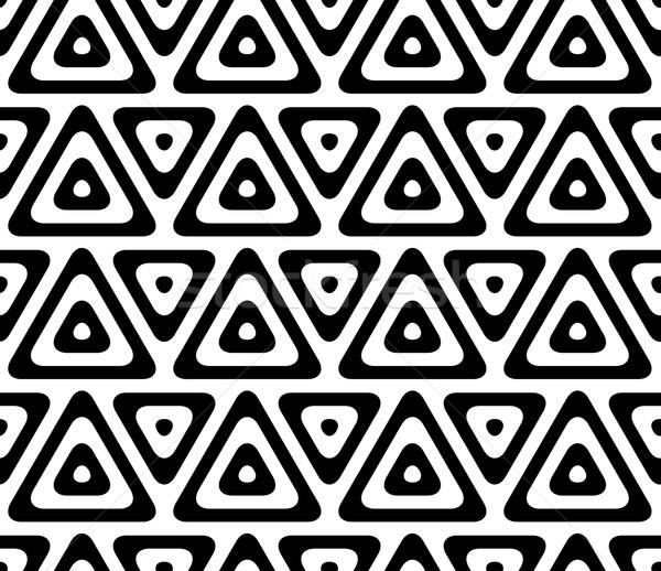 Siyah beyaz şık geometrik modern soyut Stok fotoğraf © Zebra-Finch