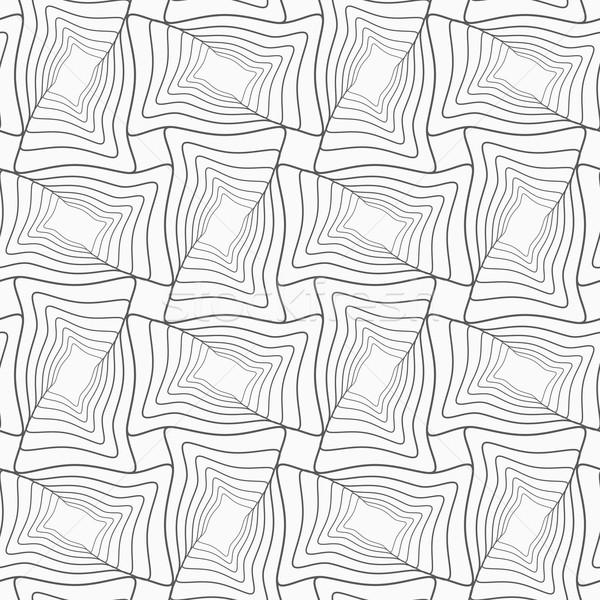 Ince gri çizgili dalgalı geometrik Stok fotoğraf © Zebra-Finch