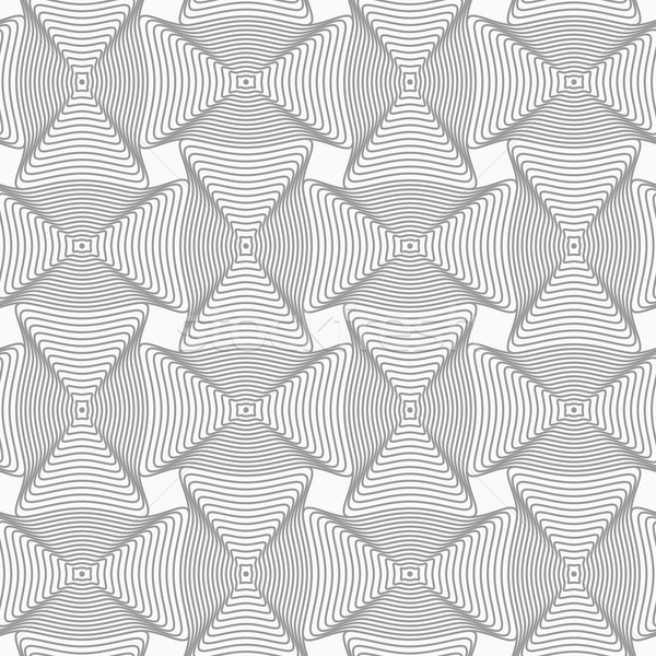 Slim gray wavy rectangles with offset Stock photo © Zebra-Finch