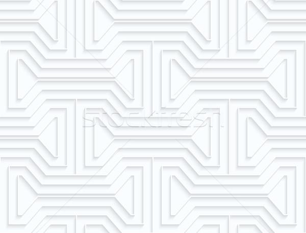 白 紙 幾何学的な 3D ストックフォト © Zebra-Finch