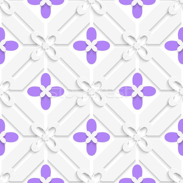 Purple flourish simple diagonal pattern Stock photo © Zebra-Finch