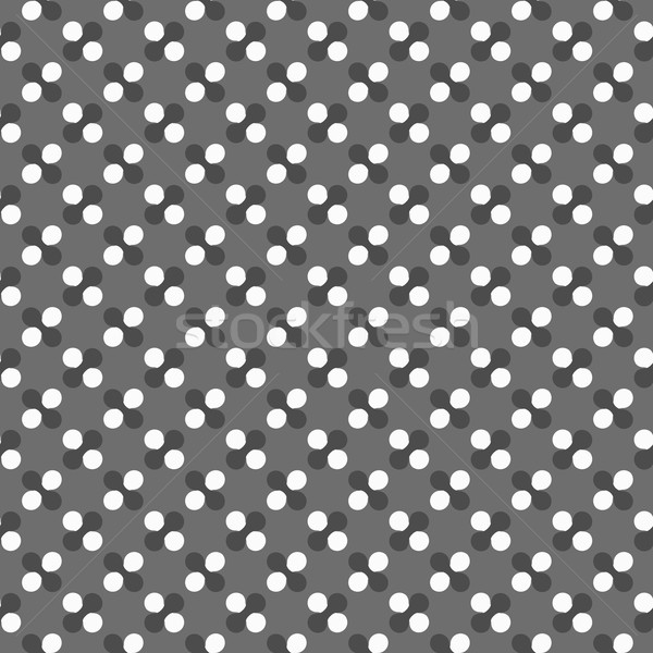Stock photo: Dark gray ornament with white circles and rounded shapes