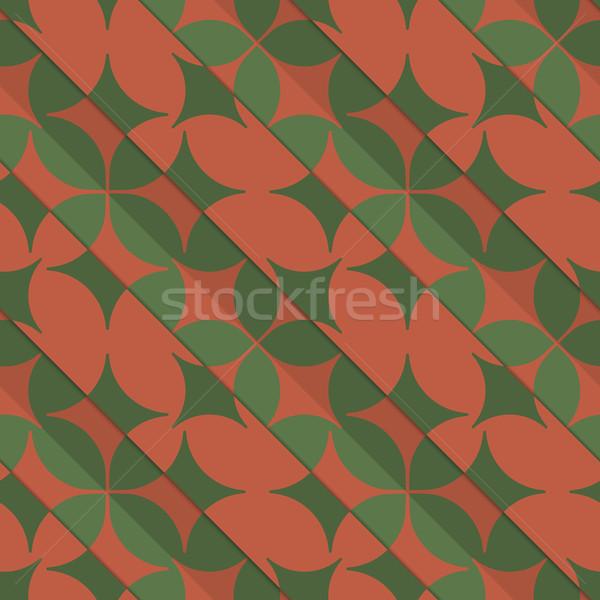 Retro 3D zöld piros négy réteges Stock fotó © Zebra-Finch