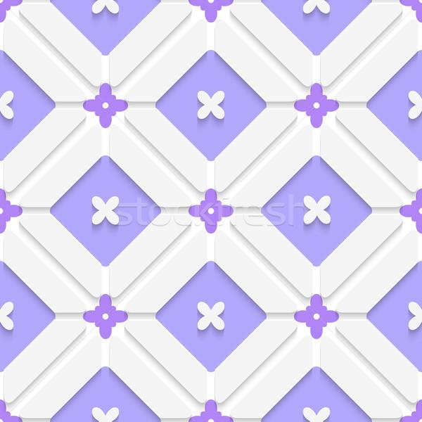 Diagonal purple floristic in frame pattern Stock photo © Zebra-Finch